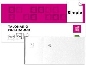 TALONARIO CAJA 50X110 MM BLANCO