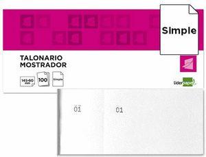 TALONARIO LIDERPAPEL MOSTRADOR 60X145 BLANCO