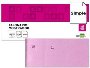 TALONARIO LIDERPAPEL MOSTRADOR 60X145 ROSA
