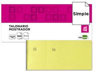 TALONARIO LIDERPAPEL MOSTRADOR 60X145 AMARILLO