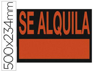CARTEL PP SE ALQUILA 50X23,4 ROJO FLUOR