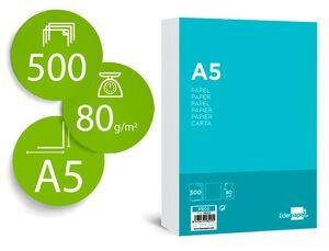 PAPEL LIDERPAPEL A5 80 GR PAQUETE 500 UD