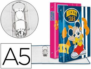 CARPETA LIDERPAPEL 2 ANILLAS 25 MM FANTASIA CARTON FORRADO A5 DISNEY