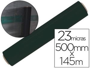 FILM EXTENSIBLE MANUAL BOBINA -ANCHO 500 MM. -LARGO 145 MT ESPESOR 23 MICRAS NEGRO