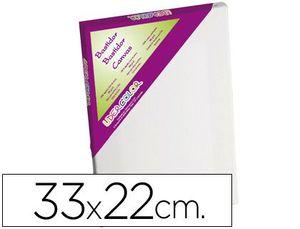 BASTIDOR LIDERCOLOR LIENZO GRAPADO BORDES MADERA 33X22 CM