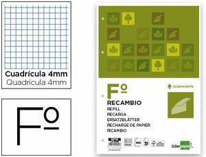 RECAMBIO LIDERPAPEL FOLIO 100 HOJAS 80G