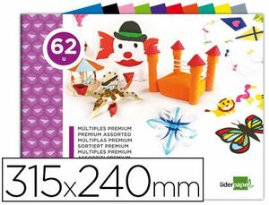 BLOC TRABAJOS MANUALES LIDERPAPEL MULTIPLE 240X315 MM 102 HJ COLORES SURTIDOS