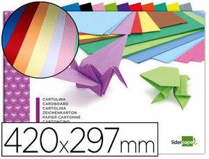 BLOC TRABAJOS MANUALES LIDERPAPEL 10 CARTULINAS COLORES