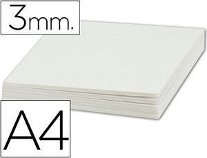 CARTON PLUMA LIDERPAPEL BLANCO A4 3 MM