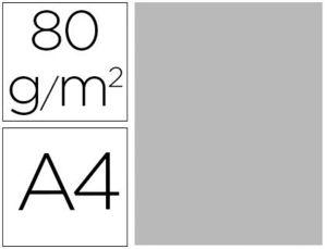 PAPEL COLOR LIDERPAPEL A4 80G/M2 GRIS PAQUETE DE 15