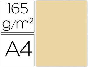 PAPEL COLOR LIDERPAPEL A4 165G / M2 CREMA PAQUETE DE 9