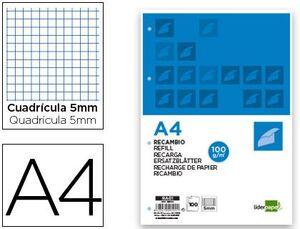 RECAMBIO LIDERPAPEL A4 100 HOJAS 100G/M2