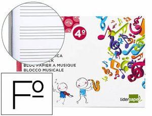 BLOC MUSICA LIDERPAPEL PENTAGRAMA 5MM CU