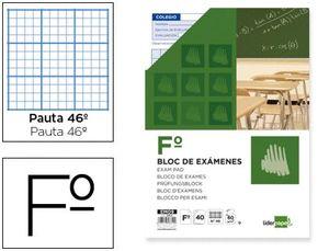 BLOC EXAMENES LIDERPAPEL FOLIO 40 H. 60 GR. RAYADO Nº 46