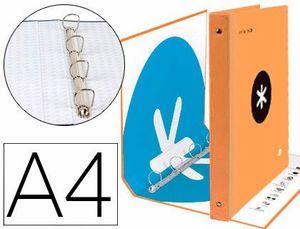 CARPETA A4 4A 40MM ANTARTIK NARANJA