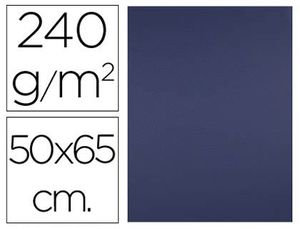 CARTULINA LIDERPAPEL 50X65 CM 240G/M2 AZUL ZAFIRO PAQUETE DE 25 UNIDADES