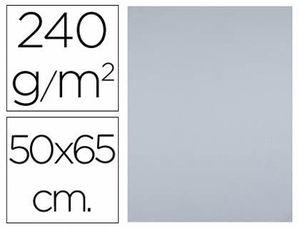 CARTULINA LIDERPAPEL 50X65 CM 240 GR GRIS PAQ 25 UD