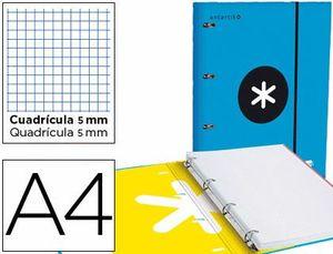 CARPETA 4A 40MM A4 ANTARTIK + RECAMBIO 5 MM AZUL