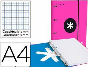 CARPETA 4A 40MM A4 ANTARTIK + RECAMBIO 5 MM ROSA