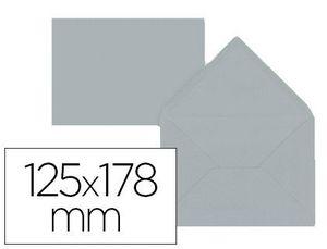 SOBRE LIDERPAPEL B6 GRIS 125X178 MM 80GR PACK DE 15 UNIDADES