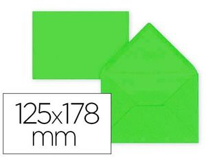 SOBRE LIDERPAPEL B6 LIMA 125X178 MM 80GR PACK DE 15 UNIDADES
