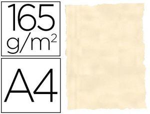 PAPEL COLOR LIDERPAPEL PERGAMINO CON BORDES A4 165G/M2 HUESO PACK DE 25 HOJAS