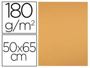 CARTULINA LIDERPAPEL 50X65 180 GR AVELLANA PAQUETE DE 25.