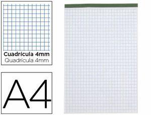 BLOC NOTAS LIDERPAPEL CUADRO 4 MM A4 80 GR