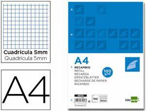 RECAMBIO LIDERPAPEL A4 100 HOJAS 100 G/M