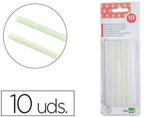 BLISTER 10 BARRAS TERMOFUSIBLE LIDERPAPEL 7 MM X 100 MM