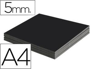 CARTON PLUMA A4 5MM NEGRO