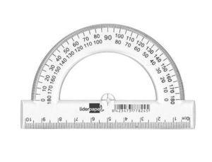 SEMICIRCULO LIDERPAPEL 10 CM PLASTICO