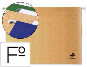 CARPETA COLGANTE LIDERPAPEL FOLIO KRAFT PACK 10 UD