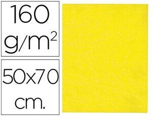 FIELTRO LIDERPAPEL 50X70 CM AMARILLO 160 GR