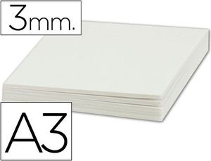 CARTON PLUMA LIDERPAPEL BLANCO A3 3 MM