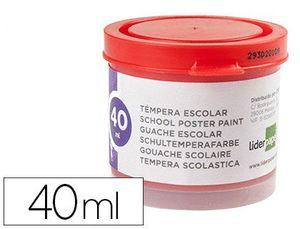 TEMPERA LIDERPAPEL ESCOLAR 40 ML ROJO