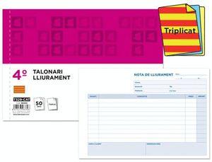 TALONARIO LIDERPAPEL ENTREGAS CUARTO ORIGINAL Y 2 COPIAS T329 APAISADO TEXTO EN CATALAN