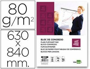 BLOC CONGRESO LIDERPAPEL LISO 63X84CM 25