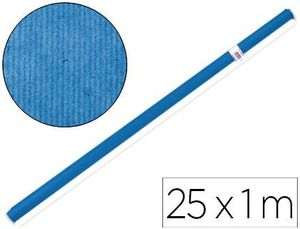 ROLLO PAPEL KRAFT LIDERPAPEL AZUL 25X1 M
