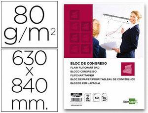 BLOC CONGRESO LIDERPAPEL LISO 63X84CM 50 HJ 80 GR