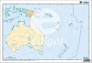 MAPA COLOR MUDO OCEANIA POLITICO