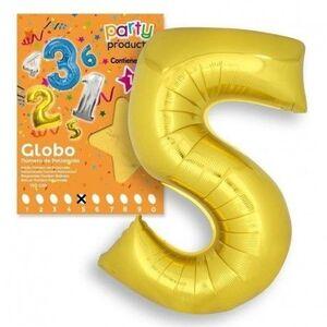 GLOBO Nº 5 COLOR ORO 106X81 CM