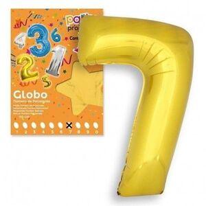 GLOBO Nº 7 COLOR ORO 106X81 CM