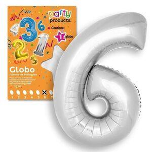 GLOBO Nº 6 COLOR PLATA 106X81CM