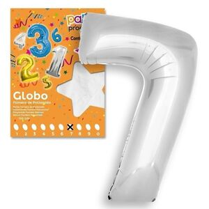 GLOBO Nº 7 COLOR PLATA 106X81CM