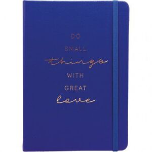 CUADERNO PUNTOS A5 80 HJ 100 GR C/GOMA T/D FORRADO AZUL DO SMALL THINGS WITH GREAT LOVE