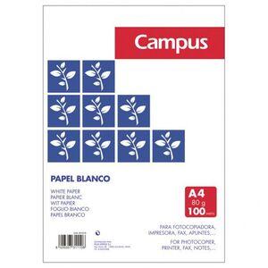 PAPEL CAMPUS BLANCO A4 80 GR PAQUETE 100 HJ