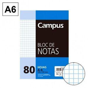 BLOC NOTAS MICROPERFORADO CUADRICULADO 4MM A6 80 HJ 60 GR