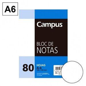 BLOC NOTAS MICROPERFORADO LISO A6 80 HJ 60 GR