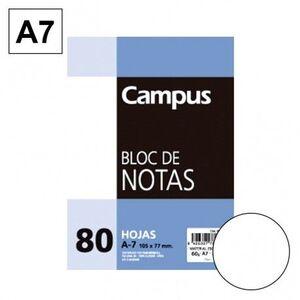 BLOC NOTAS MICROPERFORADO LISO A7 80 HJ 60 GR